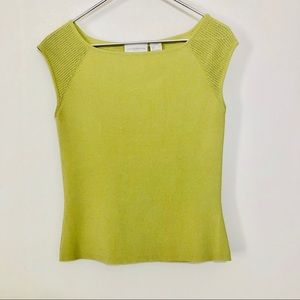Liz Claiborne green pea knit top